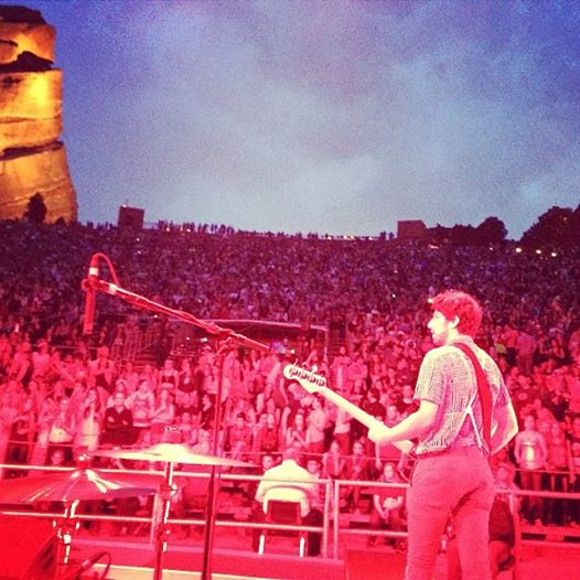 With Conway at Red Rocks Amphitheater, CO on the Ellie Goulding tour